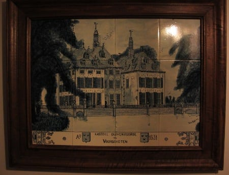 Caste Duivenvoorde in Delft blue