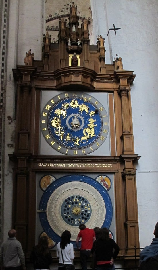 Astronomical clock in St. Marien
