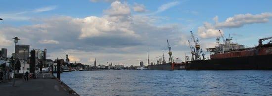 Hamburg seen from Altona