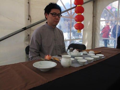 Tea ceremony with host