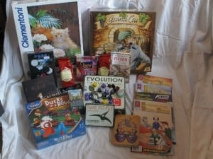The Essen loot 2012, except for the banana. I ate that one.