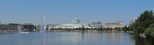 Hamburg from the Binnenalster