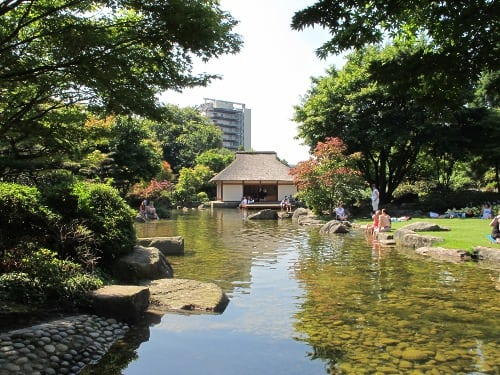 Water and teahouse