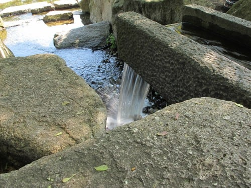 This is where the water falls