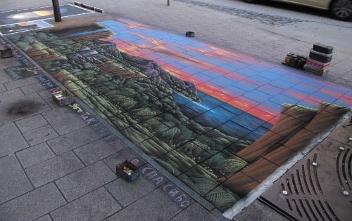 And a nice street painting