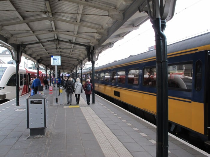 Our train at Leeuwarden station