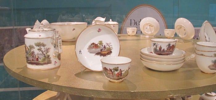 Closeup European porcelain