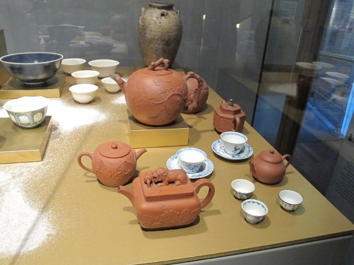 Yixing pots besides some porcelain found in a shipwreck (unclear whether the Yixing was part of that salvage)
